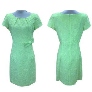 Sara Campbell Neon Jacquard Floral A Line Dress